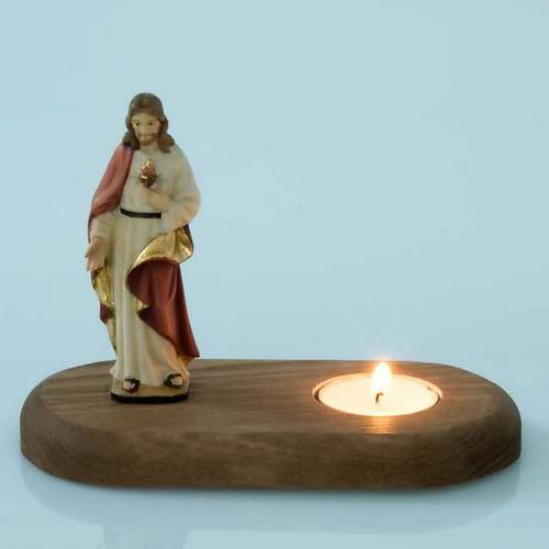 The Holy Heart of Jesus with votive candle s3