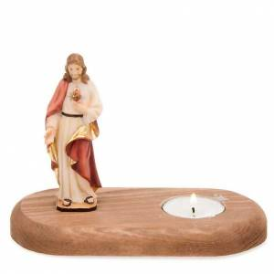 The Holy Heart of Jesus with votive candle s1