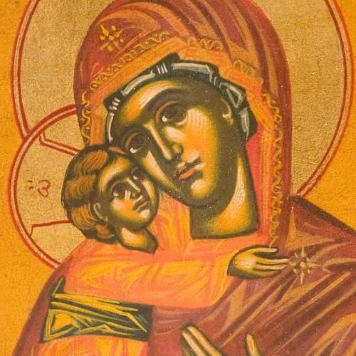 The Virgin of Vladimir on ochre backdrop s3