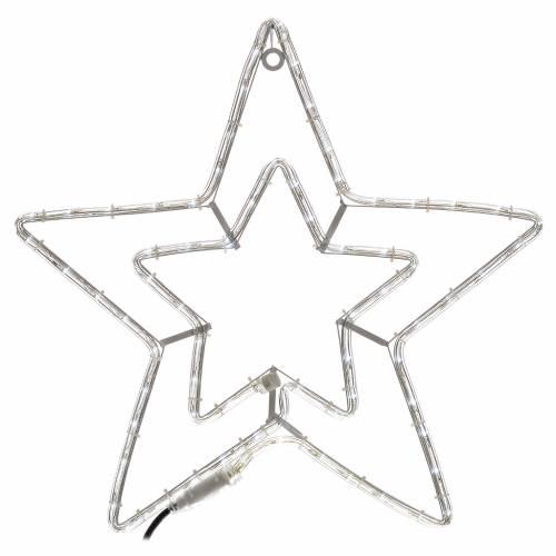 Étoile lumineuse double extérieur blanc glace s1