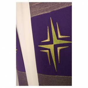 Étole croix stylisée laine double retors s6