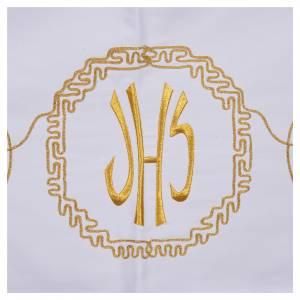 Tovaglia da mensa decoro dorato spighe e IHS s5