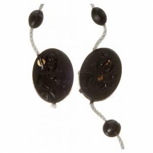preiswerte Rosenkränze: Tragbarer Rosenkranz schwarzes Nylon