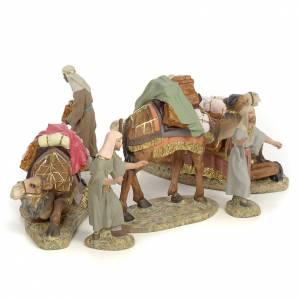Tre Re Magi a cammello 12 cm pasta di legno dec. fine s3