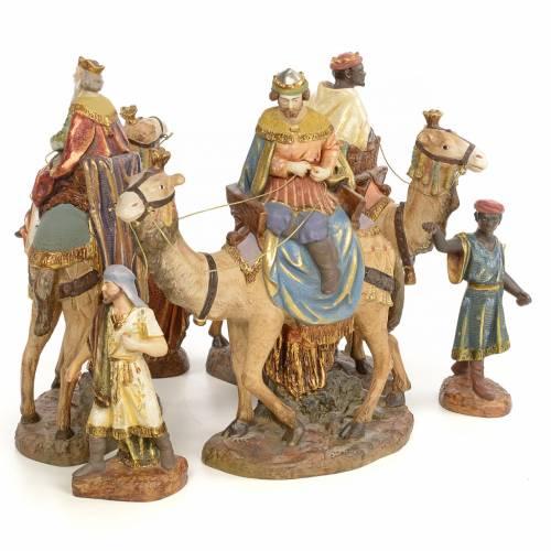 Tre Re Magi a cammello 20 cm pasta di legno dec. extra s3