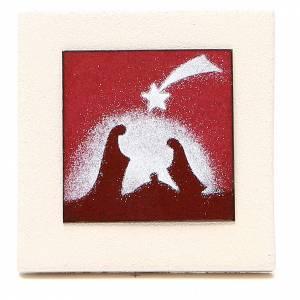 Stilisierte Krippe: Triptik roten Bilder Feuerton Centro Ave