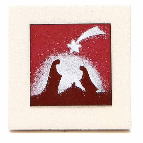 Triptyque cadres rouges argile Centre Ave 9,8 cm s2