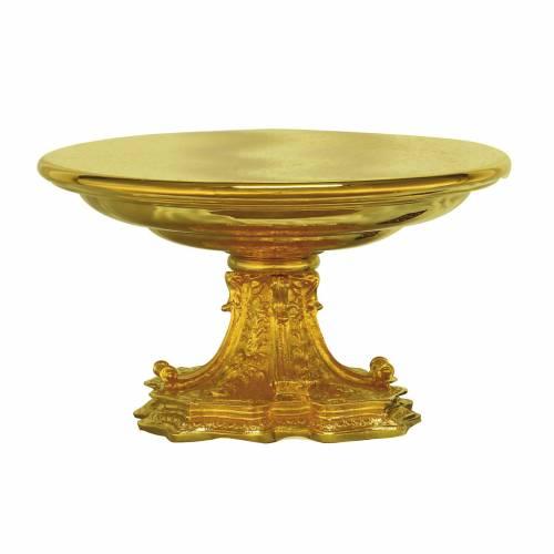 Tronetto ottone dorato base in fusione s1