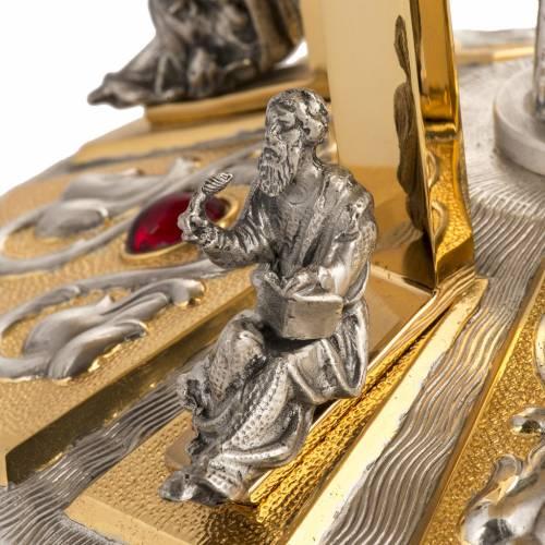 Trono latón con baser bronce 4 Evangelistas s6