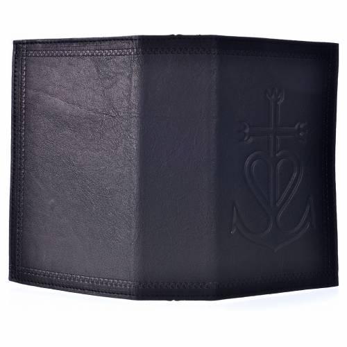 Étui liturgie heures 4 vol. cuir noir Ancre du Salut s2