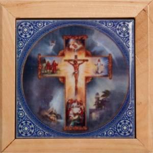 Étuis à chapelets: Étui porte chapelet en bois d'olivier croix