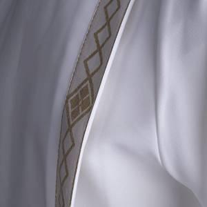 Vestidos comunión: Túnica primera comunión 2 pliegues borde dorado