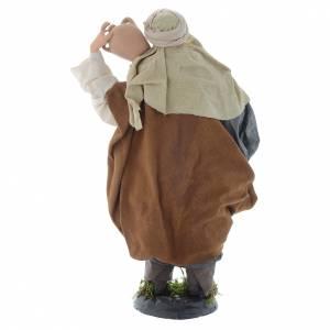 Uomo con brocche 30 cm presepe napoletano s4