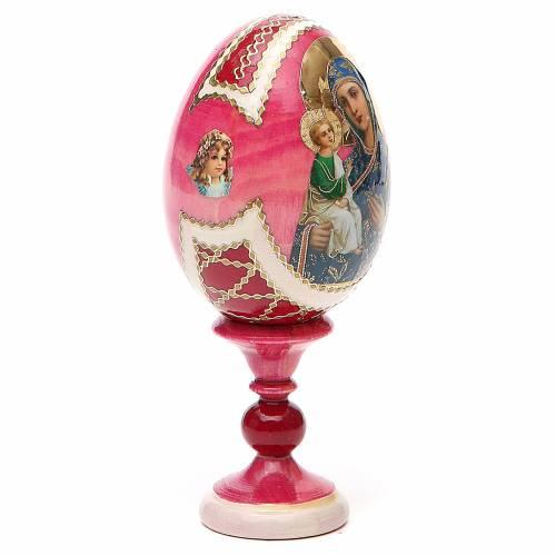 Uovo legno découpage Russia Jerusalemskaya h tot. 13 cm stile Fabergé s4