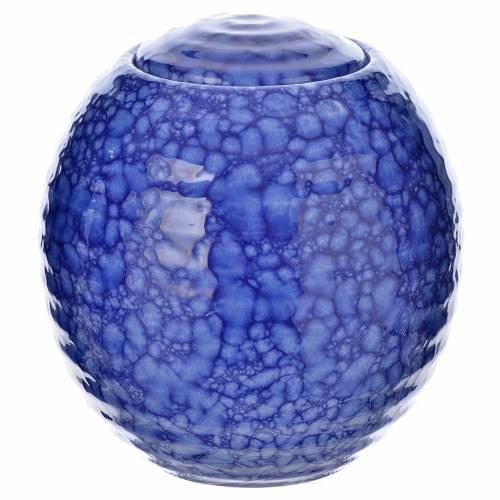 Urne funéraire porcelaine modèle Murano bleu s1