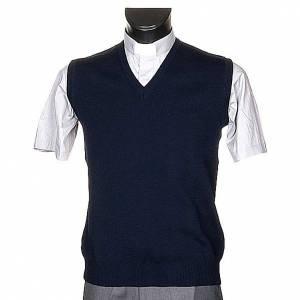 V-neck blue waistcoat s1