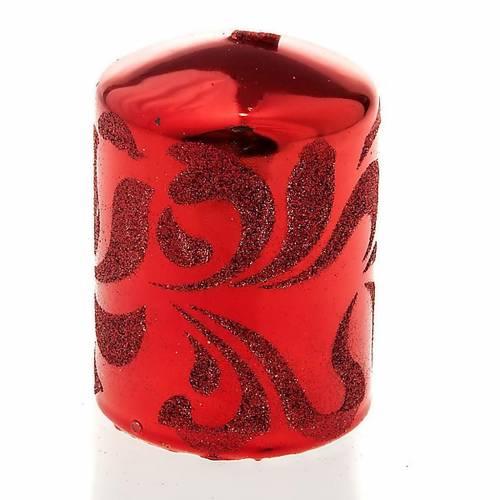 Vela Navidad color rojo s1
