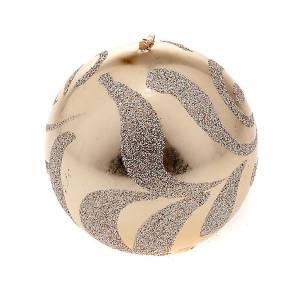 Vela Navidad esfera champagne s1