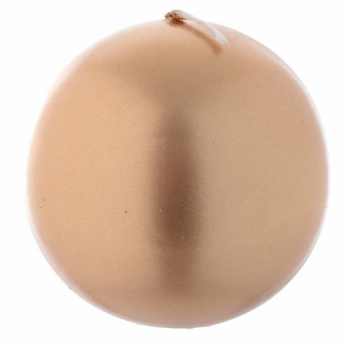 Vela navideña esfera dorada, diámetro 8 cm s1