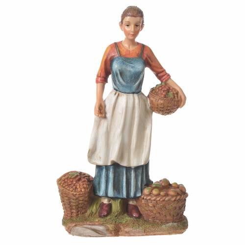 Vendeuse fruits et légumes 30 cm santon résine s1