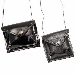 Hostiendosen und Hostienbehälter: Versehpatenen-Etui in braunem Leder