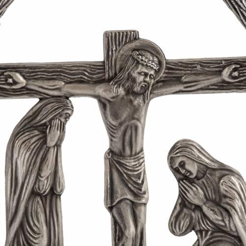Vía Crucis 15 estaciones en bronce plateado s2
