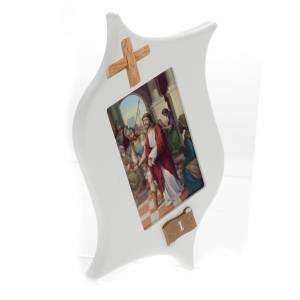 Vía Crucis: Via Crucis 15 estaciones: tablas estrella lacada madera