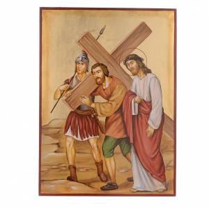 Via Crucis 15 Stazioni icone dipinte a mano 44x32 cm Romania s5
