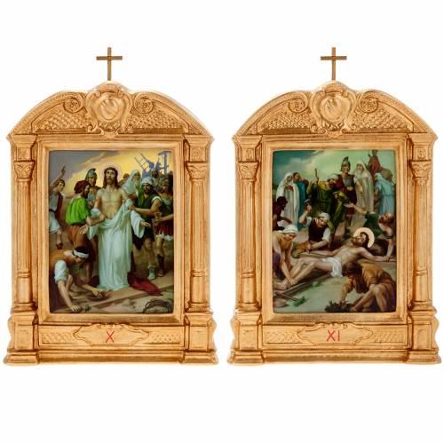Vía crucis altar madera XV estaciones s12