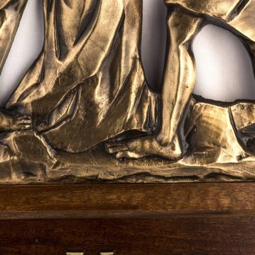 Vía Crucis latón fundido 30x50 cm con base - 15 es s4
