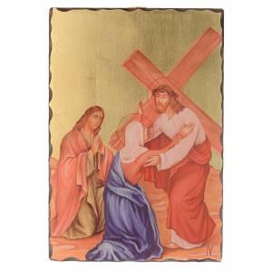Via Crucis quadretti serigrafati 30x20 cm legno s4