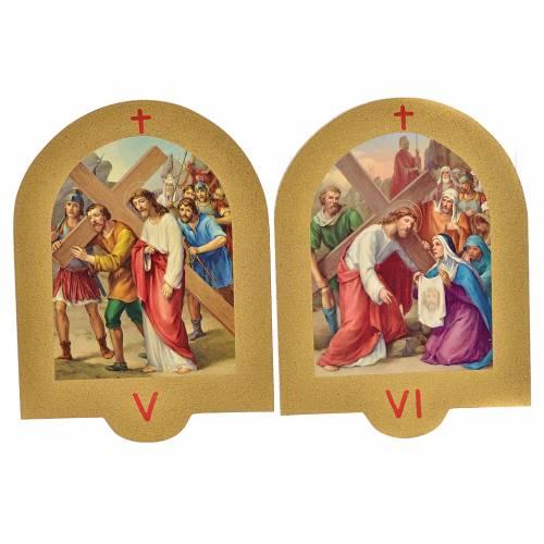 Via Crucis stampa su legno 19x14 cm 15 stazioni s4