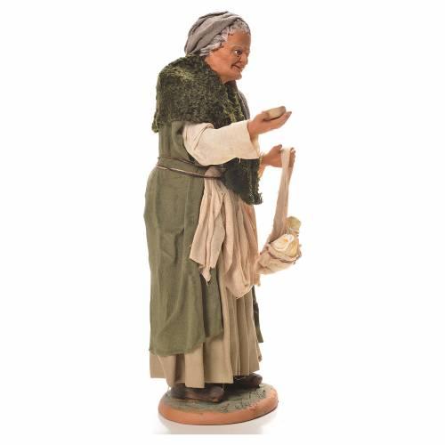 Vieille femme bossue 30 cm crèche napolitaine s4
