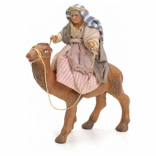 Vieille sur chameau crèche Napolitaine 8 cm s1