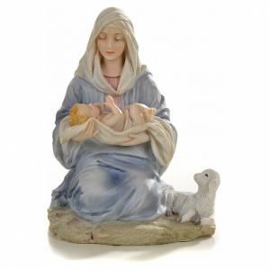 Vierge à l'enfant 15cm statue résine peinte s1