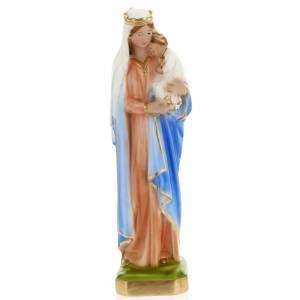 Vierge à l'enfant en plâtre 30 cm s1