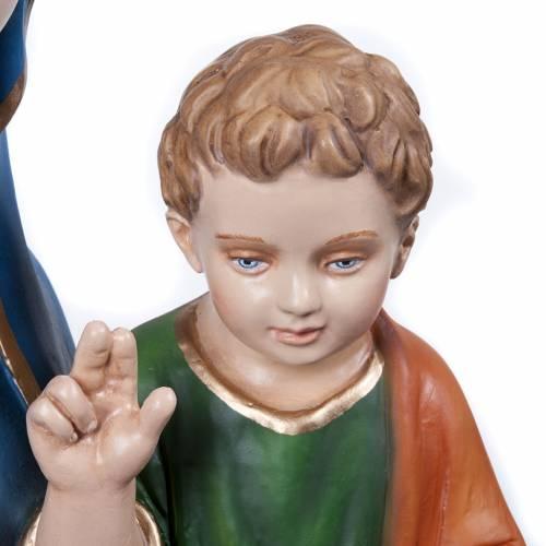 Vierge de la consolation statue fibre de verre 80 cm s6