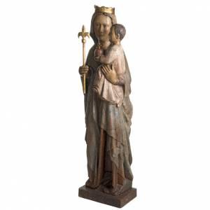 Vierge du Lyonnais statue in painted Bethléem wood 120cm s3