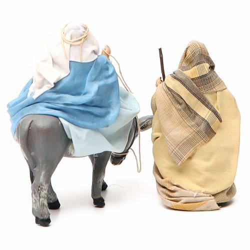 Vierge Marie en attente sur âne et St Joseph 8cm crèche Napolitaine s3