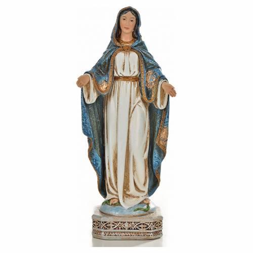 Vierge Miraculeuse 20cm résine peinte s1
