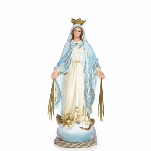 Vierge Miraculeuse 80cm pâte bois élégante s1