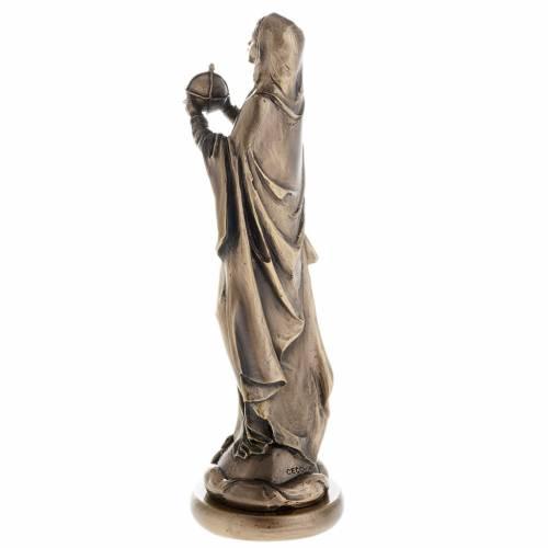 Vierge statue couleur bronze, 16 cm s4
