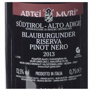 Les vins rouges et blancs: Vin Pinot Noir Réserve DOC 2013 Abbaye Muri Gries 750ml