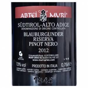 Les vins rouges et blancs: Vin Pinot Noir Réserve DOC Abbaye Muri Gries 2012