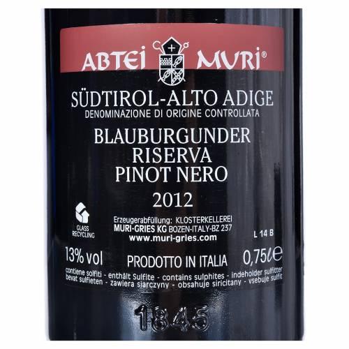 Vin Pinot Noir Réserve DOC Abbaye Muri Gries 2012 s2