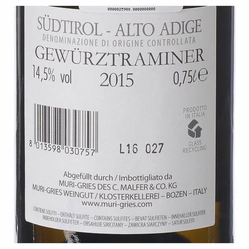 Vin Traminer Aromatico DOC 2015 Abbaye Muri Gries 750ml s2