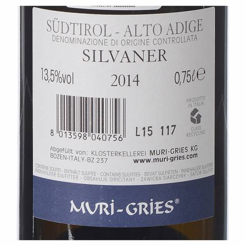 Vino Silvaner DOC 2015 Abadía Muri Gries 750 ml s2