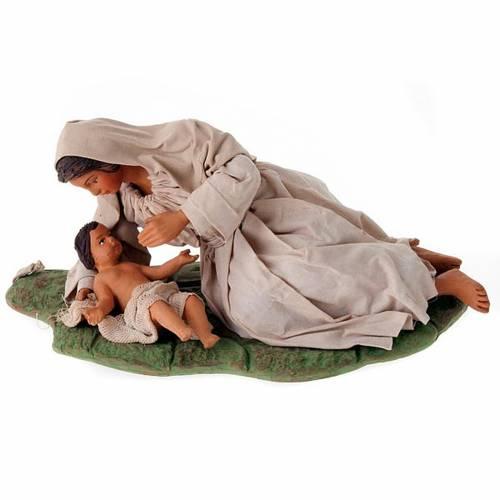 Virgen acostada con nino 24 cm s1