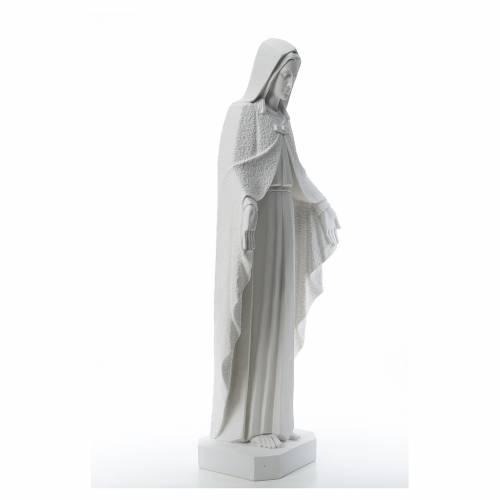 Virgen brazos abiertos 110cm de mármol blanco s4