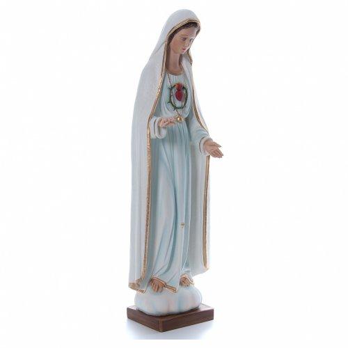 Virgen de Fátima 100 cm. fibra de vidrio coloreada s3